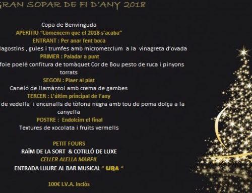 Gran Sopar de Cap d,Any 2018
